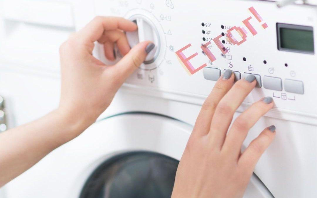 Co oznaczają kody błędów w pralkach marki Electrolux?